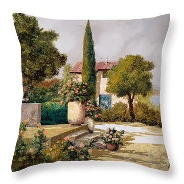 Il Cipresso Throw Pillow by Guido Borelli