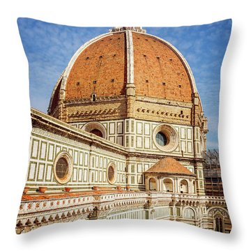 Throw Pillow featuring the photograph Il Duomo Florence Italy by Joan Carroll