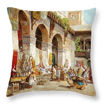 Il Mercato Arabo Throw Pillow