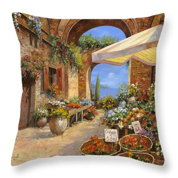 Il Mercato Del Lago Throw Pillow