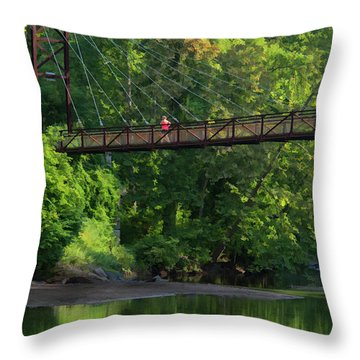 Ilchester-patterson Swinging Bridge Throw Pillow