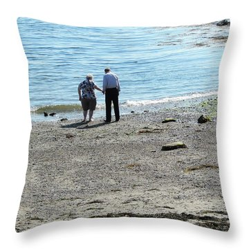 I'll Hold Your Hand  Throw Pillow