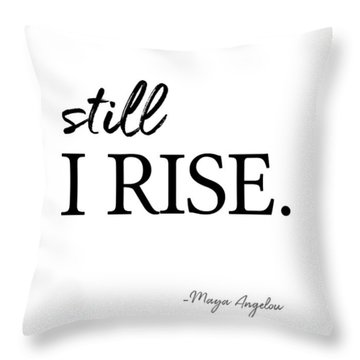 I'll Rise #minimalism 3 Throw Pillow