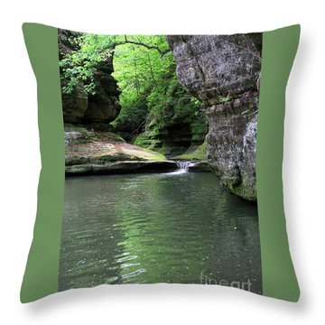 Illinois Canyon Summer Throw Pillow