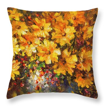 Illousion Of Love  Throw Pillow by Leonid Afremov