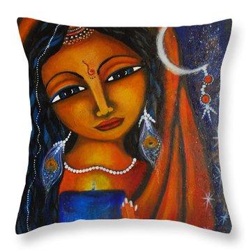 Throw Pillow featuring the painting Illuminate by Prerna Poojara