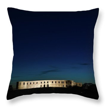 Throw Pillow featuring the photograph Illuminated Castle Ruin by Kennerth and Birgitta Kullman
