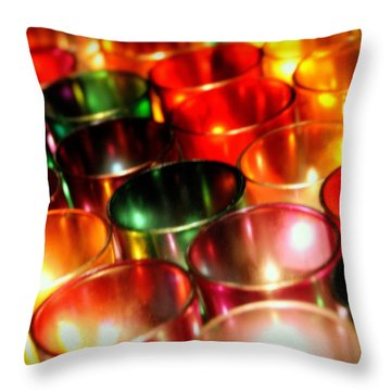 Illuminated Prayers Throw Pillow