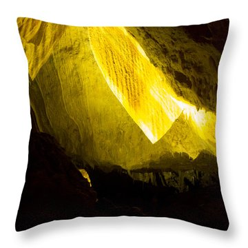 Throw Pillow featuring the photograph Illuminated Shawl by Angela DeFrias