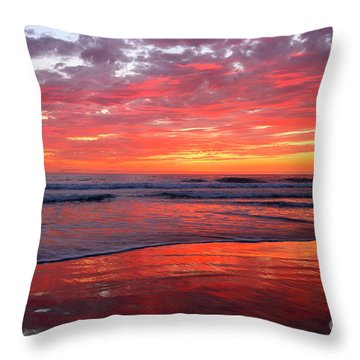Throw Pillow featuring the photograph North County Waves by John F Tsumas