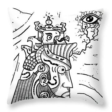 Surrealism Illuminati Black And White Throw Pillow