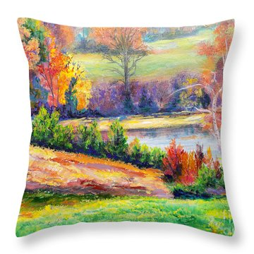 Illuminating Colors Of Fall Throw Pillow