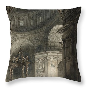 Illumination Of The Cross In St. Peter's On Good Friday, 1787 Throw Pillow