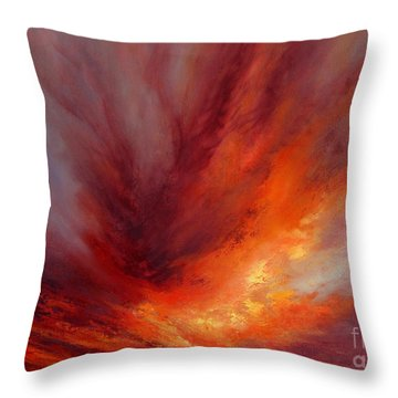 Illumination Throw Pillow by Valerie Travers