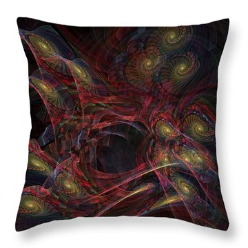 Throw Pillow featuring the digital art Illusion And Chance - Fractal Art by NirvanaBlues