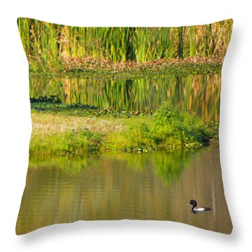 Throw Pillow featuring the photograph Illusion Confusion by Rosalie Scanlon