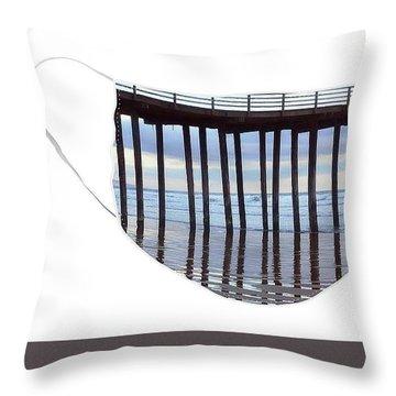 Illusion Of Ocean Movement Throw Pillow