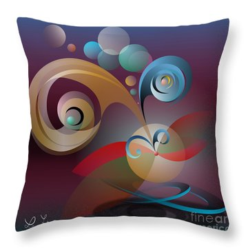 Illusion Of Joy Throw Pillow by Leo Symon