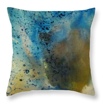 Throw Pillow featuring the painting Illusion Of Lace 1 by Mary Kay Holladay
