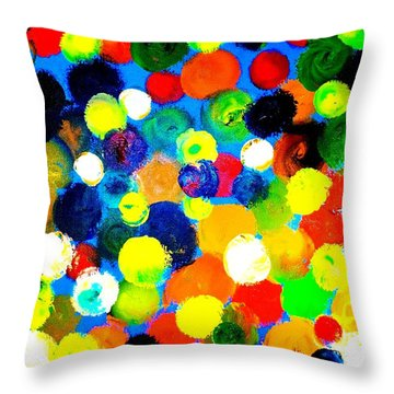 Throw Pillow featuring the painting Illusion by Piety Dsilva