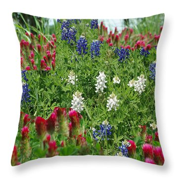 Illusions Of Texas In Red White Blue Throw Pillow by Robyn Stacey