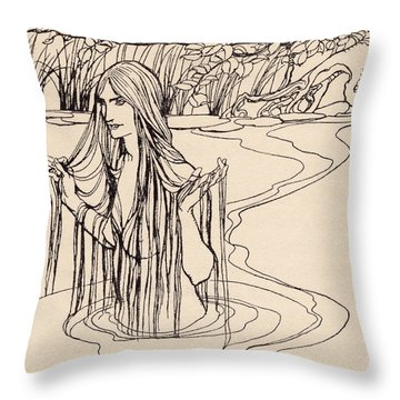 Illustration From Grimm S Fairy Tale Throw Pillow