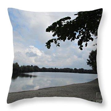 Ilsesee Near Augsburg Throw Pillow