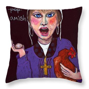 I'm Amish Throw Pillow