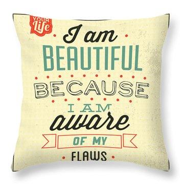 I'm Beautiful Throw Pillow