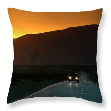 Throw Pillow featuring the photograph I'm Going Home Ten Years After by Peter Thoeny