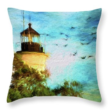 Throw Pillow featuring the photograph I'm Here To Watch You Soar II by Jan Amiss Photography
