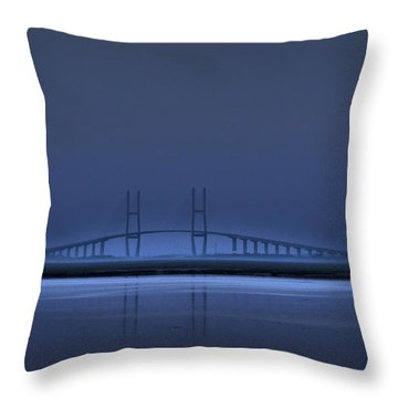I'm In A Blue Mood Throw Pillow