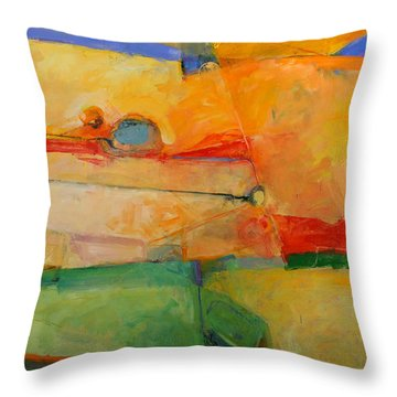 Throw Pillow featuring the painting I'm In Corn  by Cliff Spohn