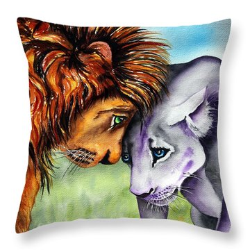 I'm In Love With You Throw Pillow by Maria Barry