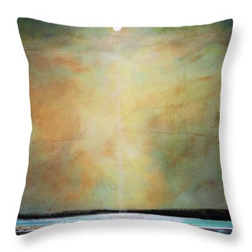 I'm Never Alone Throw Pillow by Toni Grote