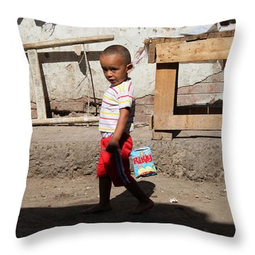 Throw Pillow featuring the photograph I'm On A Mission  by Jez C Self
