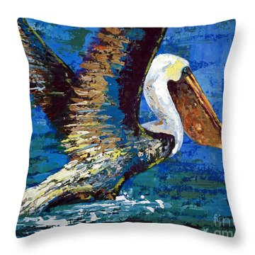 Throw Pillow featuring the painting Im Outa Here by Suzanne McKee