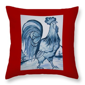 I'm So Blue Throw Pillow