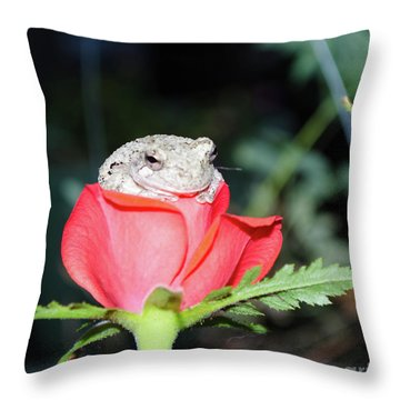 I'm So Comfy Here Throw Pillow