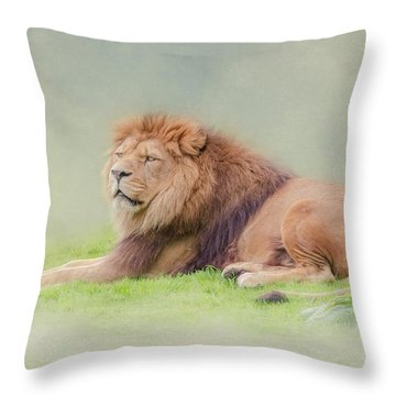 I'm The King Throw Pillow by Roy McPeak