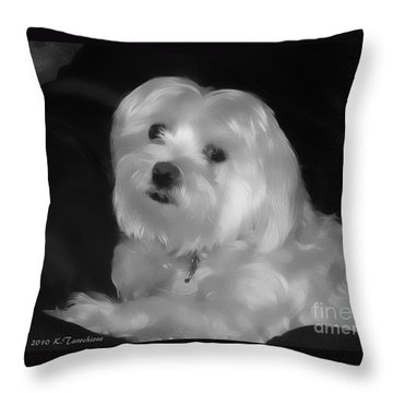 Throw Pillow featuring the digital art I'm The One For You by Kathy Tarochione
