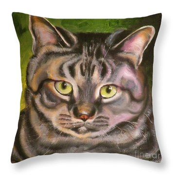Im Your Man Tabby Throw Pillow