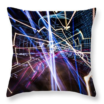 Image Burn Throw Pillow by Micah Goff