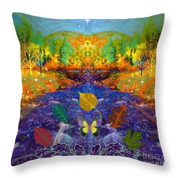 Imaginary Place Throw Pillow by Annie Gibbons