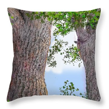 Imaginary Trees Throw Pillow