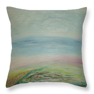Imagination 7. Landscape. Three Dimensions. View From The Sky. Throw Pillow
