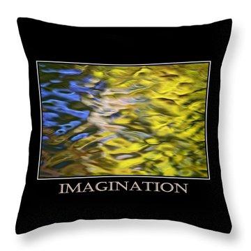 Imagination  Inspirational Motivational Poster Art Throw Pillow by Christina Rollo