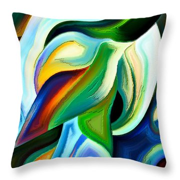 Throw Pillow featuring the painting Imagination by Karen Showell