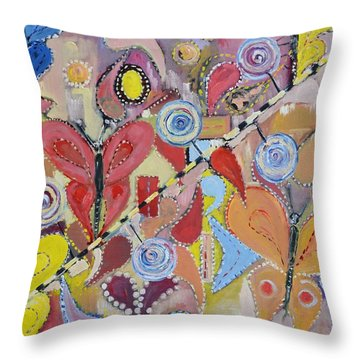 Imagination Land Throw Pillow by Evelina Popilian