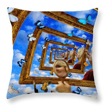 Imaginations Throw Pillow by Robby Donaghey